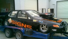 Stripe Pro Racing Car